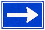 verplichte rijrichting verkeersplein